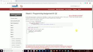 ... i'll upload all assignment solutions so stay tuned to my channel. week 5 - https:/...