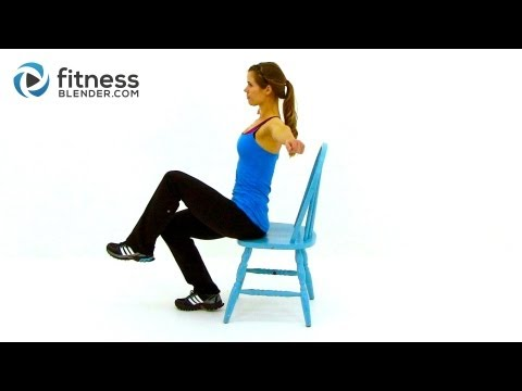 Workout at Work Low Impact Total Body Chair Workout Routine by FitnessBlender.com