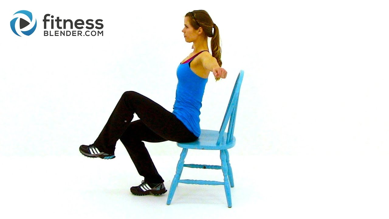 Chair Exercise Workout At Work Low Impact Total Body Chair Workout Routine By Fitnessblender