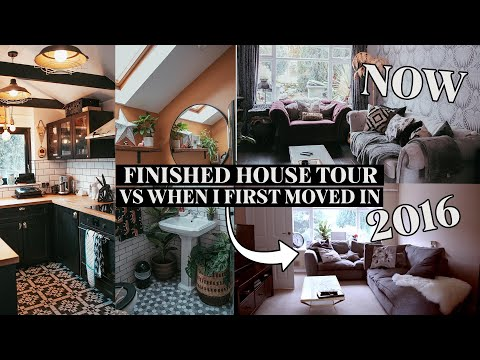 FINISHED HOUSE TOUR VS WHEN I FIRST MOVED IN