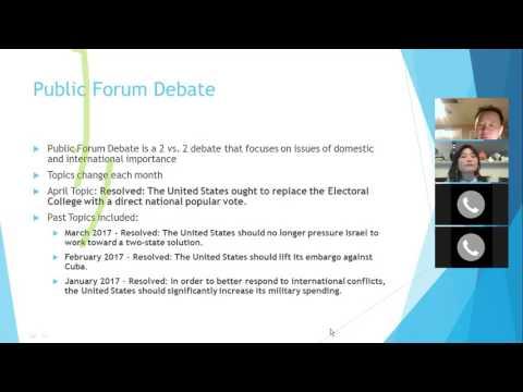 Elisa Chen Public Forum Debate