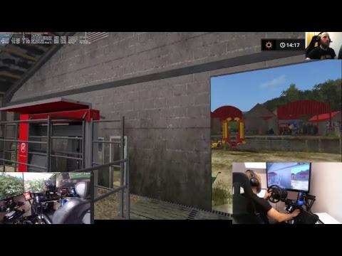 farming simulator 17 lets play drumard farm sever  with dad E12