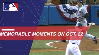 MLB's notable moments from October 22