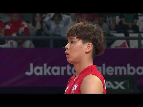 Pakistan Vs South Korea Volleyball Match 2018 Asian Games Jakarta Indonesia