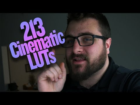 I'm giving away 213 Cinematic LUTs for FREE...