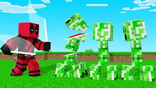 Minecraft BUT I Am DEADPOOL! (so strong)
