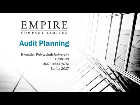 Audit Planning - Empire Company Limited