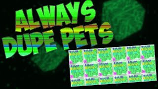 [Roblox] Pet Simulator: HOW TO ALWAYS DUPLICATE GLITCH (GIVING AWAY RAINBOW CORE SHOCK PETS)