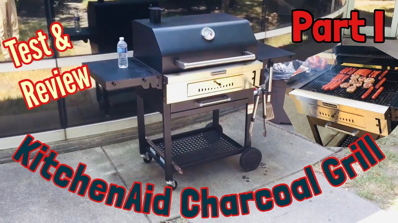 KitchenAid Charcoal Grill   Seasoning U0026 Review. Part 1.   Kasket     YouTube