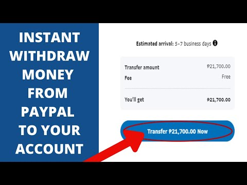Instant Withdraw From PayPal To Your Account