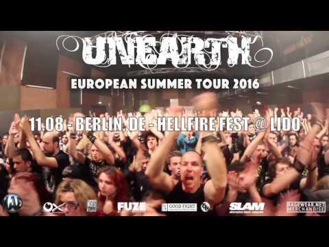 UNEARTH - European Summer Tour 2016 Trailer