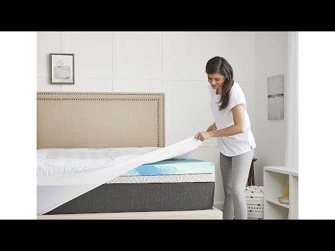 sealy-4inch-sealychill-gel-comfort-pillowtop-memory-foam-mattress-topper,-full,-white