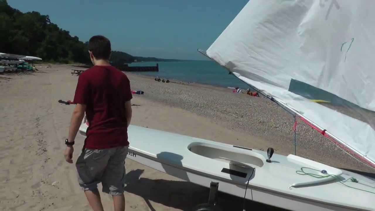 Rigging a Sunfish Sailboat  YouTube