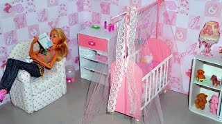 How to make a baby crib / cot (part 1) for doll (Monster High, Barbie, etc)