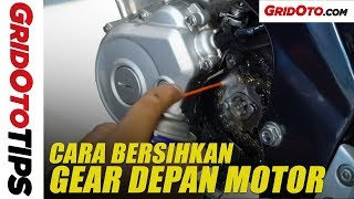 Cara Bersihkan Gear Depan Yamaha New V-Ixion Lightning | How To | GridOto Tips