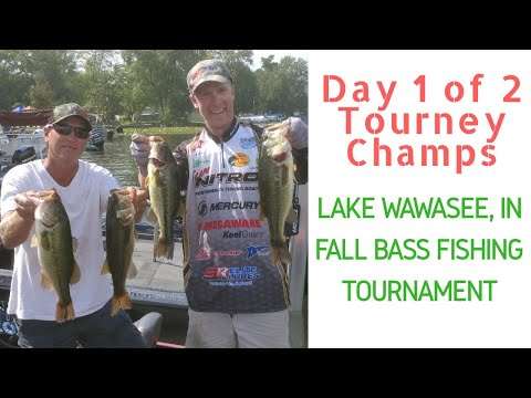 Early Fall Bass Fishing Tournament - Lake Wawasee, Indiana