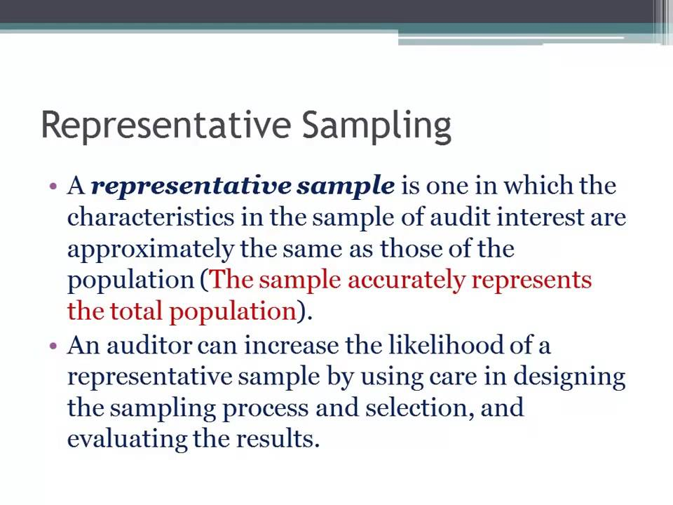 Representative Sampling in Auditing - YouTube