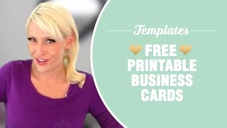 Gambar cover Free printable business cards - TEMPLATES INCLUDED