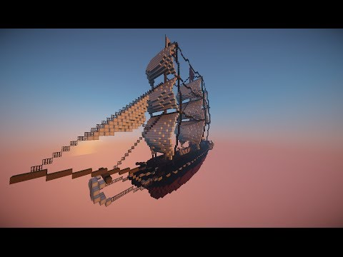 USS Constitution in minecraft by mcBOXteam