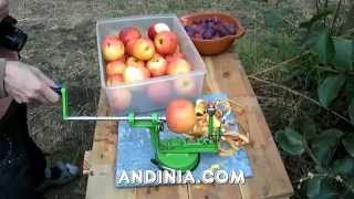 Máquina pela y corta manzanas - Apples Peel and Cut Machine - Descasca e cortar maçãs