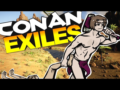 Conan Exiles - KNOCKING WOMAN UNCONSCIOUS & BRINGING HER BACK TO OUR LAIR #1 - Conan Exiles Gameplay