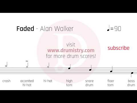 Alan Walker - Faded Drum Score