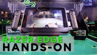 Razer EDGE Hands-On Interview! Adam Sessler at 2013 CES
