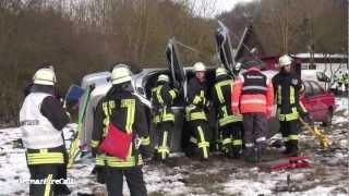 """Katastrophenschutzübung """"Meteoritenhagel"""" am Silbersee in Frielendorf - MANV-Alarm - 16.03.2013"""