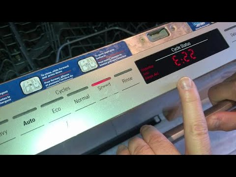 Fix Bosch Dishwasher E22 Water Tap Error Diy Repair Clogged Trap Filter Youtube