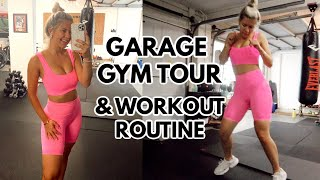 VLOG: garage gym tour, workout routine, prepping for online summer classes