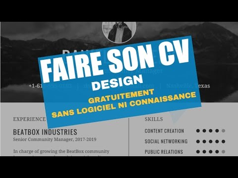 creation cv gratuit pdf FAIRE SON CV / CURRICULUM VITAE DESIGN GRATUITEMENT ET SANS  creation cv gratuit pdf