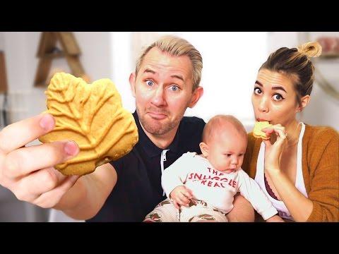 Leaf Cookies!?   Americans Try Canadian Food
