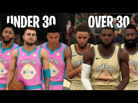 NBA Players Under 30 vs Over 30 Years Old! | NBA 2K20