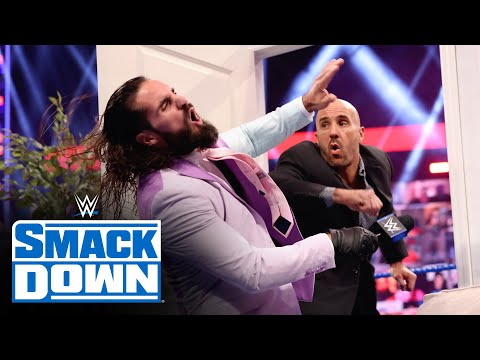 """Seth Rollins and Cesaro destroy the """"Ding Dong, Hello!"""" set: SmackDown, June 11, 2021"""