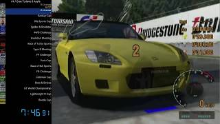 (WR) Gran Turismo 3 Any% Speedrun [5:40:26]