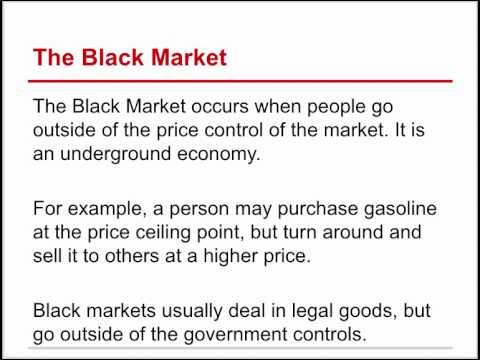 Economics-The Black Market
