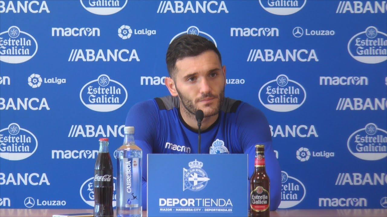 Rueda de prensa de Lucas Pérez. 14.11.2017