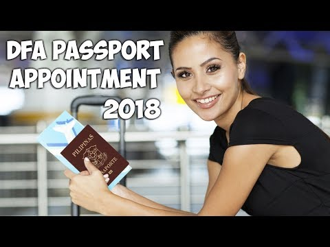 DFA Passport Appointment 2018