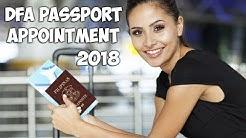 DFA Passport Appointment 2018