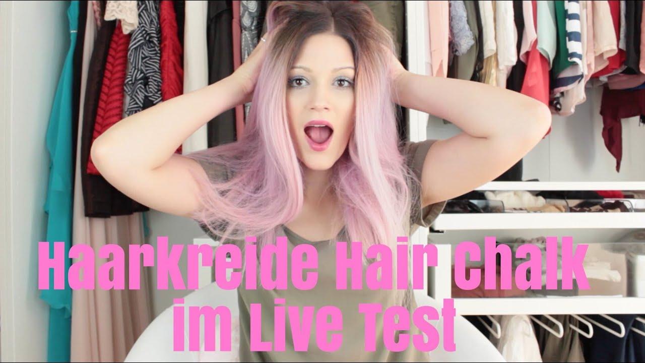 haarkreide hair chalk im live test lindasbeautyvlog