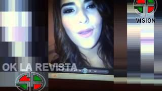 MARIA JOSE  ALVARADO, EX MISS HONDURAS CANTANDO/OK LA REVISTA/CANAL 25