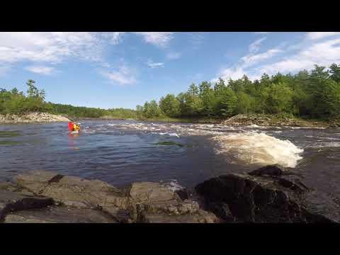 EJ paddling the MixMaster on the ottawa