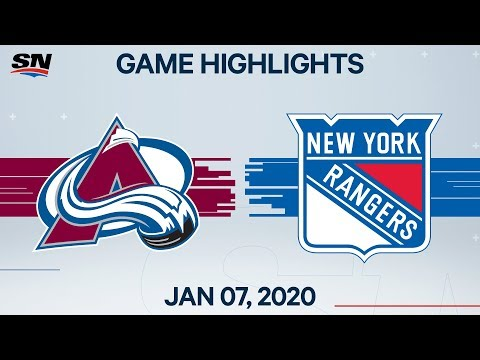 NHL Highlights | Avalanche Vs Rangers – Jan. 7, 2020