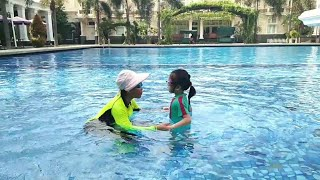 Tutorial Mengajar Renang Anak || Melatih Anak Berani di Air || Swimming Healthy