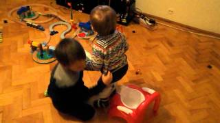 potty training by big brother :)) - Last seconds are only for the strong stomachs