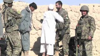 OPERATION HOPE HERO - Afghan led patrol to disrupt the Taliban find Lee-Enfield rifles