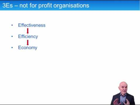 ACCA P5 Performance in the Not-For-Profit Sector, 3Es