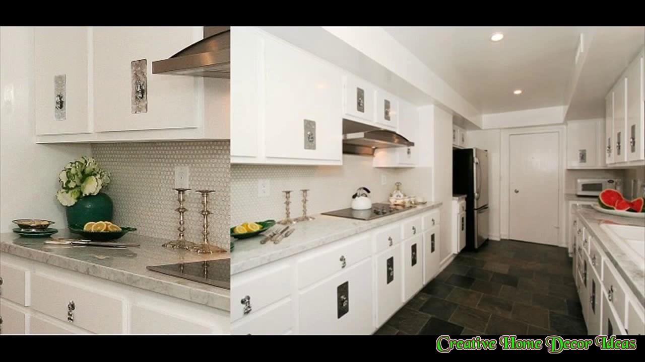 White Kitchen Slate Floor Ideas