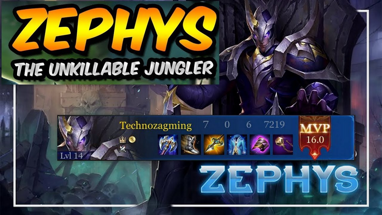 Best Zephys Build Arcana And Gameplay As Jungler And Weekly Giveaway
