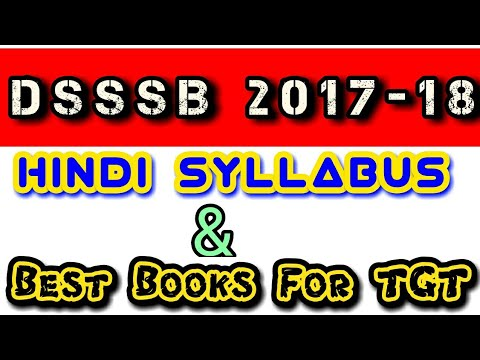 HINDI SYLLABUS AND BEST BOOKS FOR TGT Dsssb recruitment 2017-18